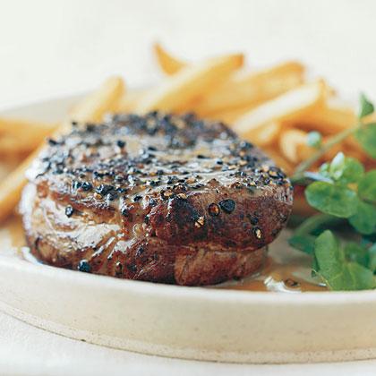 Pan-Seared Steak Au Poivre