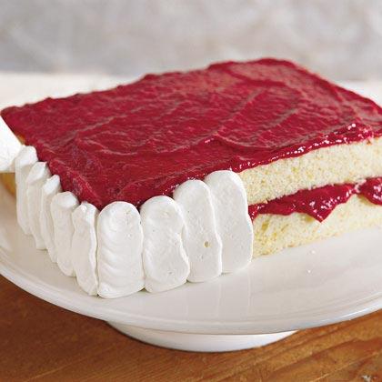 Strawberry-Lemon Sheet Cake