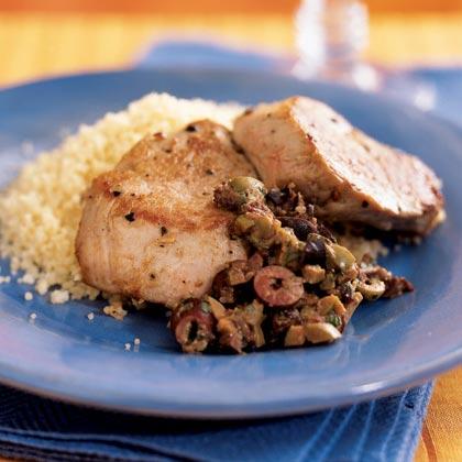 Pork Tenderloin with Olive-Mustard Tapenade