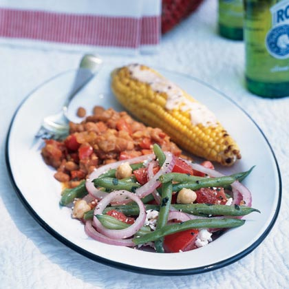 Green Bean, Chickpea, and Tomato Salad