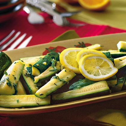 Zucchini With Citrus-Herb Dressing