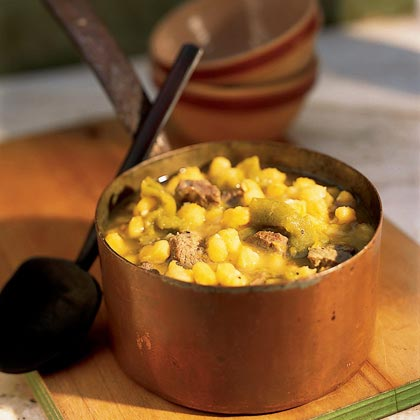 Hopi Hominy and Lamb Stew