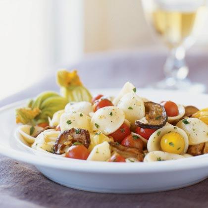 Porcini-Zucchini Blossom Orecchiette