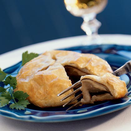 Chili-painted Portabellas in Puff Pastry