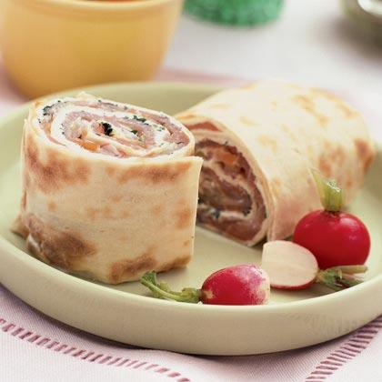 Smoked Salmon and Cream Cheese Roll-ups
