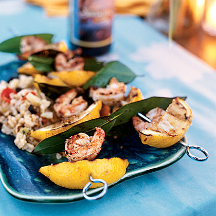 Grilled Lemon-Bay Shrimp