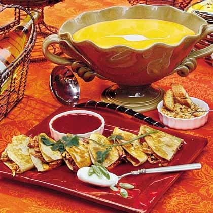 Saffron Butternut Squash Soup