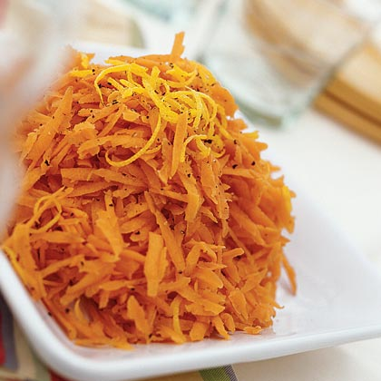 Grated Carrots with Lemon and Black Pepper