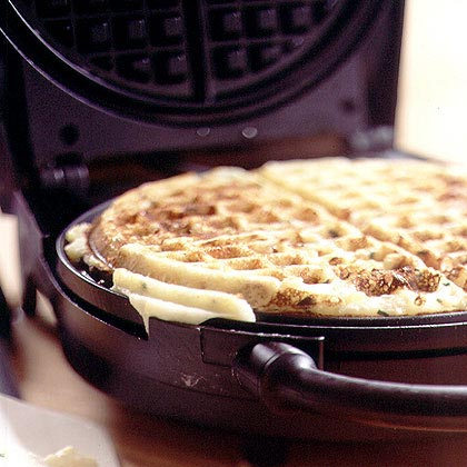 Sour Cream, Cheddar, and Chive Potato Waffles