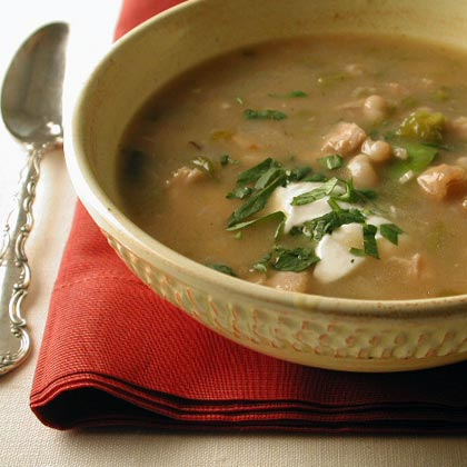 Chicken Green Chili with White Beans