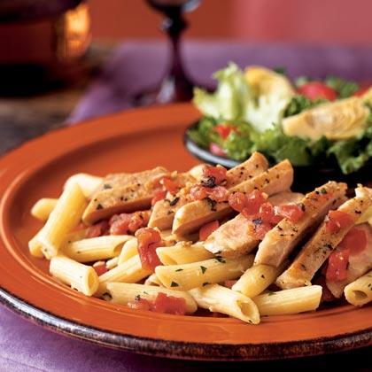 Sautéed Boneless Pork Chops with Tomato-Sage Pan Sauce