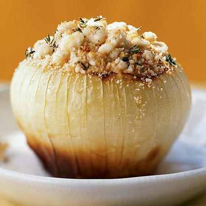 Baked Onions with Feta