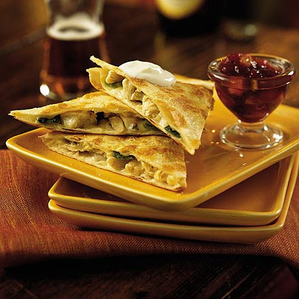 Jack Quesadillas with Cranberry Salsa