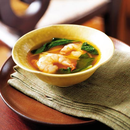 Shrimp and Spinach Soup