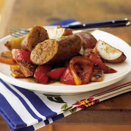 Italian Turkey Sausage with Three Peppers