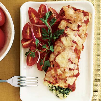 Cayenne: Spinach and Crab Enchiladas