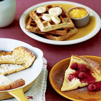 Baked Sunday Pancake with Raspberry Sauce