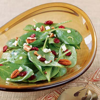 Cranberry Spinach Salad with Gorgonzola