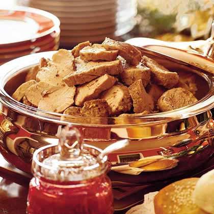 Pork Tenderloin Sandwiches With Cranberry-Coriander Conserve