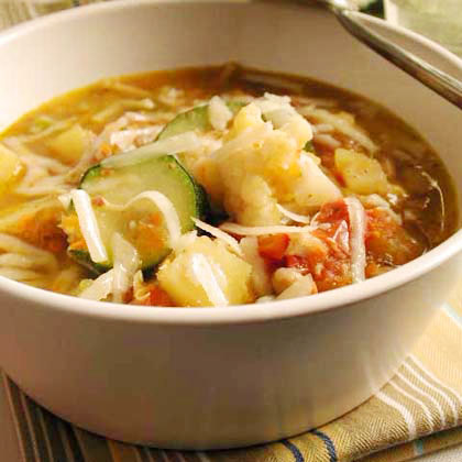 Minestrone Soup with Soybeans