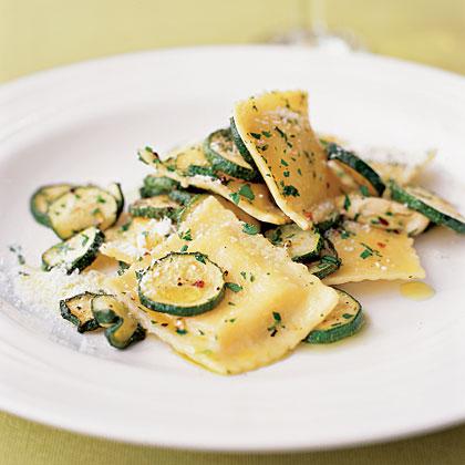 Ravioli with Roasted Zucchini