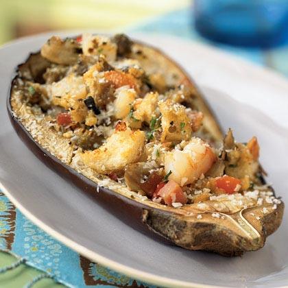 Seafood Stuffed Eggplant