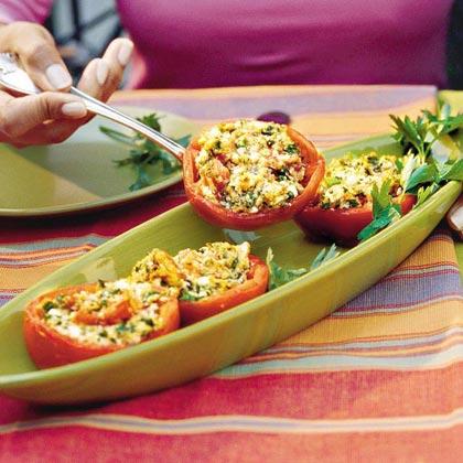 Feta-Stuffed Tomatoes