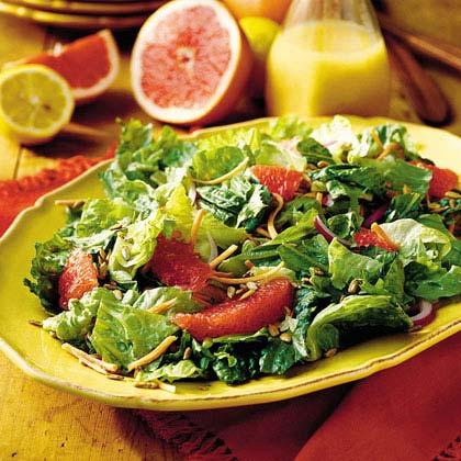 Salad with Red Grapefruit-Lemon Vinaigrette