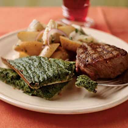 Spinach and Parmesan Fallen Soufflé