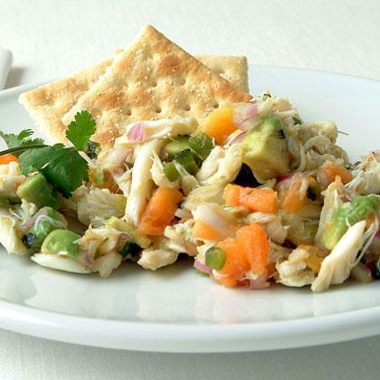 Papaya and Avocado Crab Salad