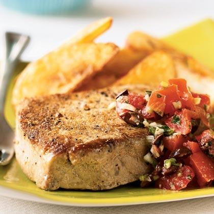 Seared Mediterranean Tuna Steaks