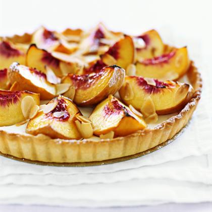 Peach and Sour Cream Tart