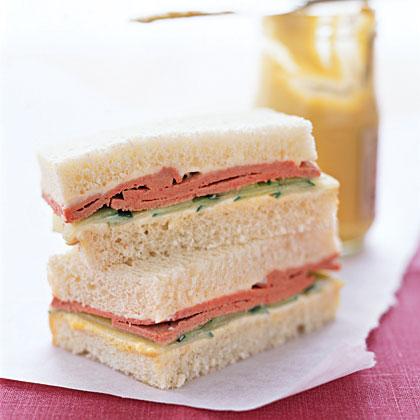 Liverwurst Tea Sandwiches