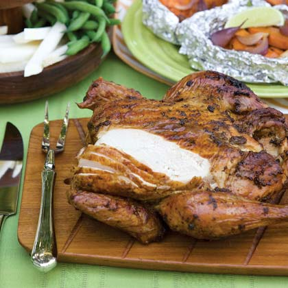 Spice-Rubbed Smoke-Roasted Chicken