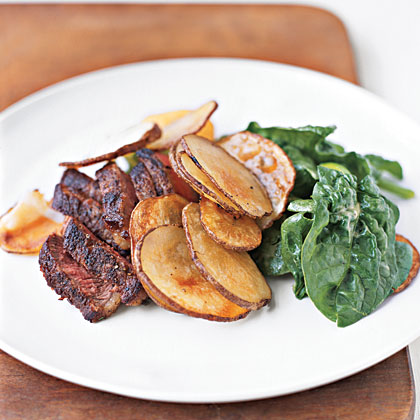 Steak and Potatoes with Mustard Vinaigrette