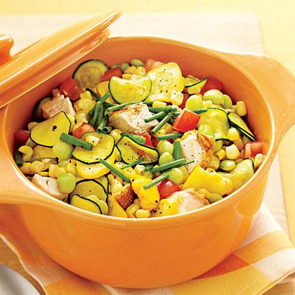 Chicken and Summer Vegetable Stew