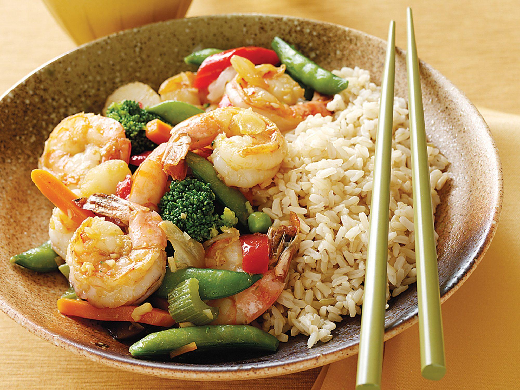 Shrimp and Vegetable Stir-Fry