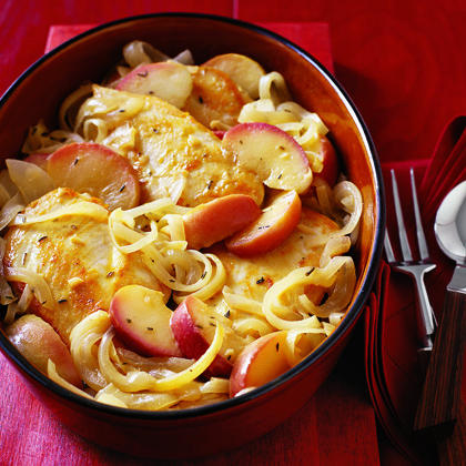 Chicken Sauteed with Apples