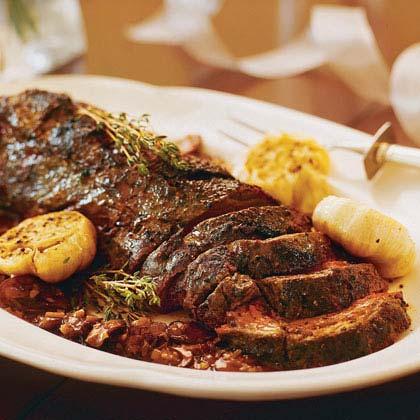 Peppered Beef Tenderloin With Portobello-Marsala Sauce