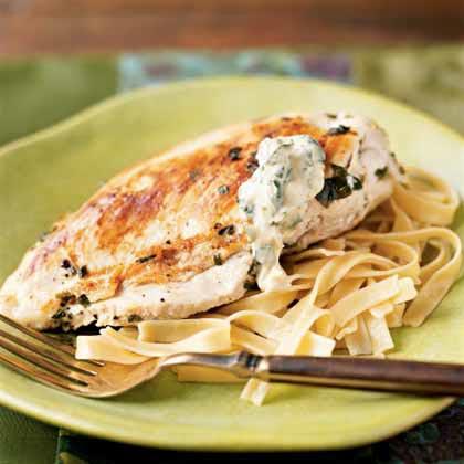 Lemon-Basil Chicken with Basil Aioli