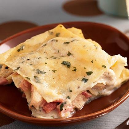 Chicken-Ham Lasagna