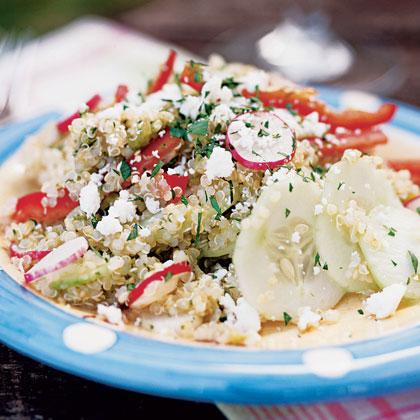 Quinoa Salad with Vegetables and Tomatillo Vinaigrette