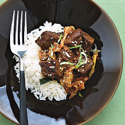 Spicy Beef and Kimchi Stew