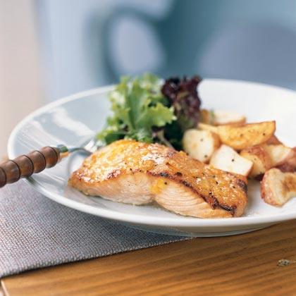 Broiled Salmon with Marmalade-Dijon Glaze