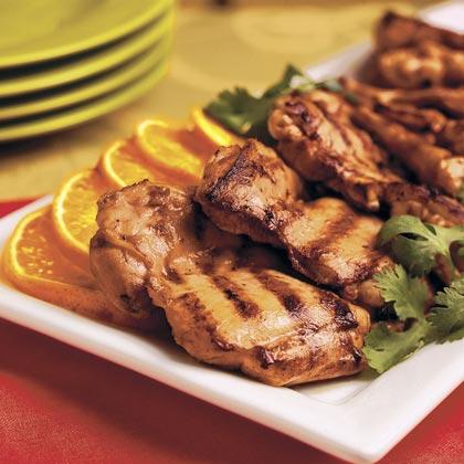 Orange-Ginger Grilled Chicken Thighs