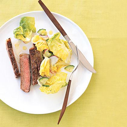 Perfect Steak with Radish Salad