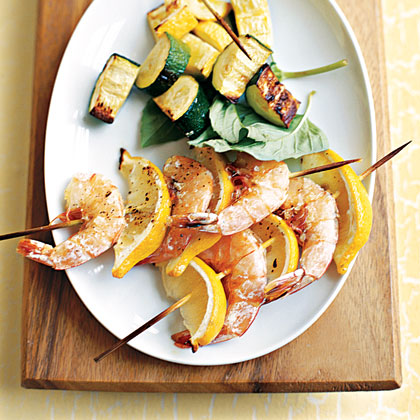 Grilled Shrimp and Lemon Kebabs