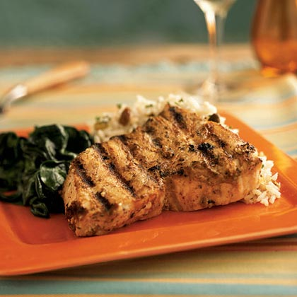 Aromatic Swordfish Steaks