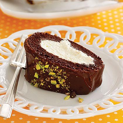 Chocolate-Cannoli Roll