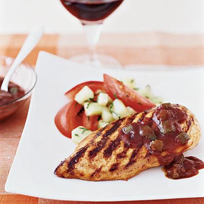 Grilled Chicken With Speedy BBQ Sauce